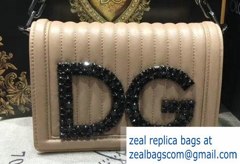 Dolce & Gabbana DG Girls Shoulder Bag In Quilted Nappa Leather Nude 2018