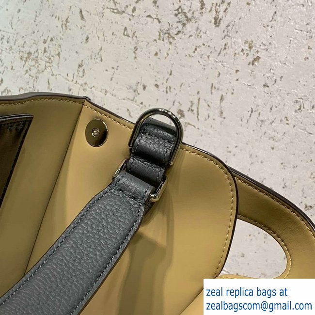 6afb46f32f5b Fendi Roman Leather Peekaboo X-Lite Regular Tote Bag Gray 2019   www ...