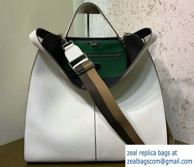 2a0fe39b147a Fendi Roman Leather Peekaboo X-Lite Regular Tote Bag White 2019 ...