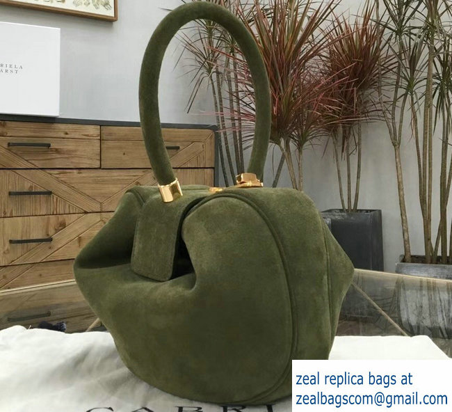 Gabriela Hearst Nina Large Bag Suede Green