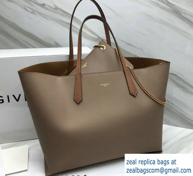 Givenchy GV Shopper Tote Bag In Smooth Leather Camel Gold 2018 5d9ea6d48b46c