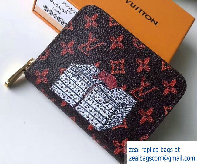 Louis Vuitton Catogram Monogram Canvas Zippy Coin Purse M63883 2018