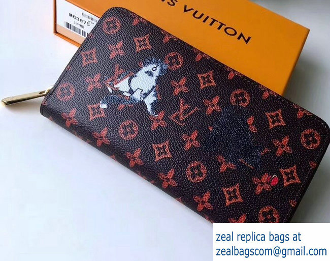 Louis Vuitton Catogram Monogram Canvas Zippy Wallet M63875 2018