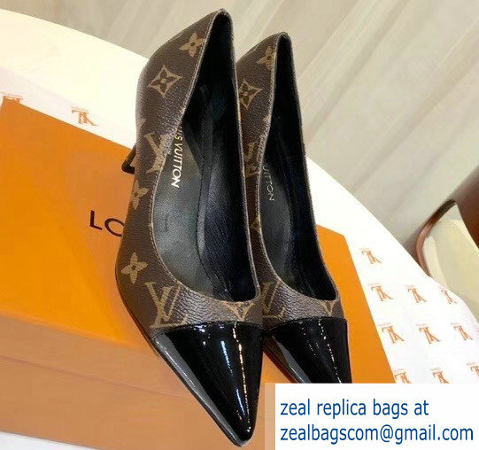 Louis Vuitton Heel 6.5cm Fetish Pumps Monogram Canvas/Patent Black