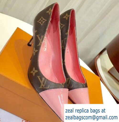 Louis Vuitton Heel 6.5cm Fetish Pumps Monogram Canvas/Patent Pink