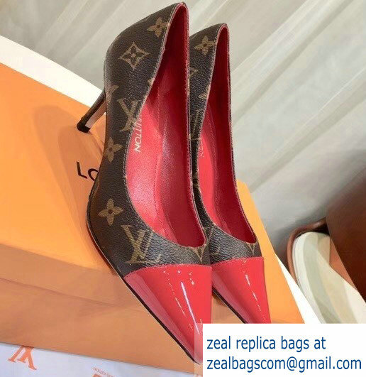Louis Vuitton Heel 6.5cm Fetish Pumps Monogram Canvas/Patent Red
