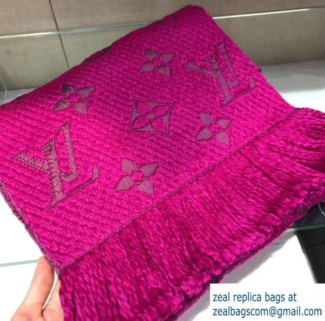 Louis Vuitton Logomania Scarf Fuchsia 2018