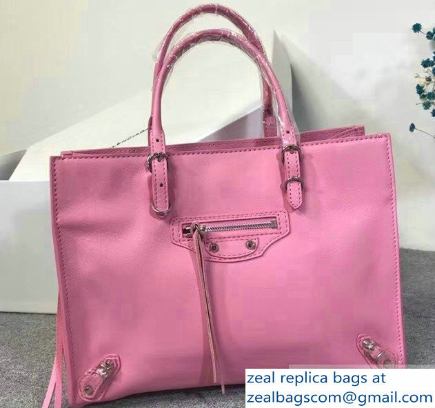Balenciaga A6 Papier Zip Around Bag Pink