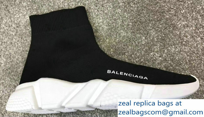 Balenciaga Knit Sock Speed Trainers Sneakers Black/White 2019