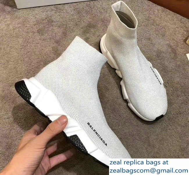 Balenciaga Knit Sock Speed Trainers Sneakers Line Creamy 2019
