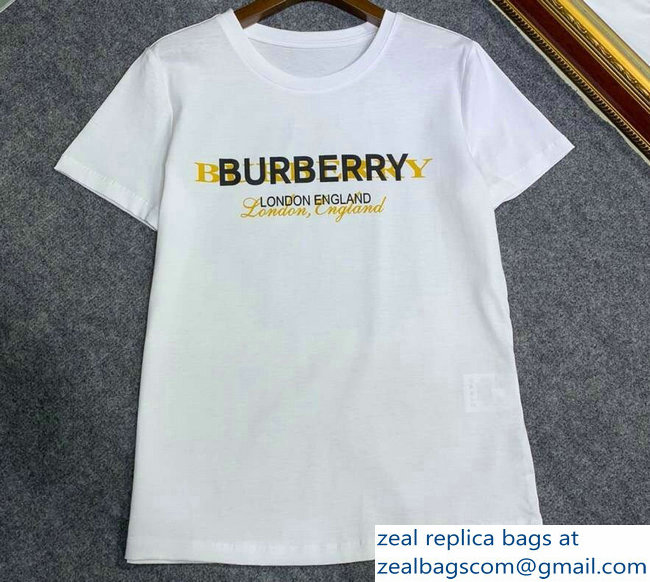 Burberry London England Print T-shirt White 2019