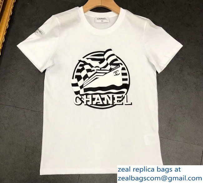 Chanel Boat T-shirt White 2019
