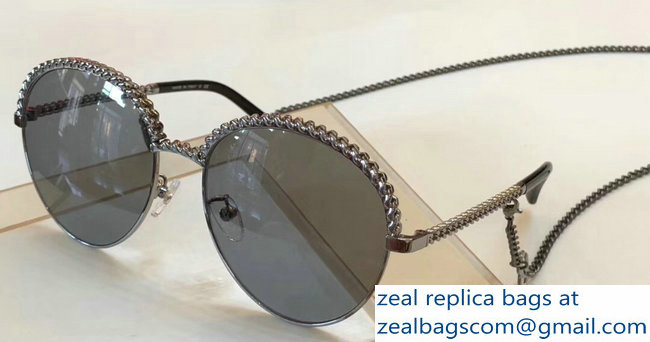 Chanel Pantos Sunglasses with Removable Single Hanging Chain 02 2019