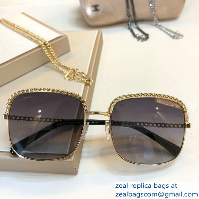 Chanel Pantos Sunglasses with Removable Single Hanging Chain 09 2019