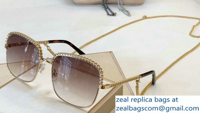 Chanel Pantos Sunglasses with Removable Single Hanging Chain 13 2019