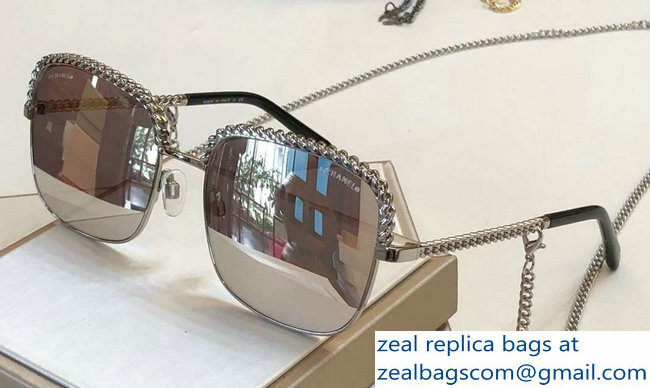 Chanel Pantos Sunglasses with Removable Single Hanging Chain 14 2019
