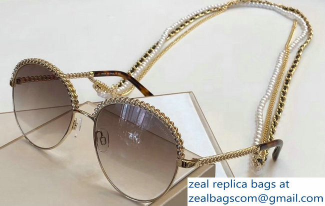 Chanel Pantos Sunglasses with Removable Triple Hanging Chain 03 2019
