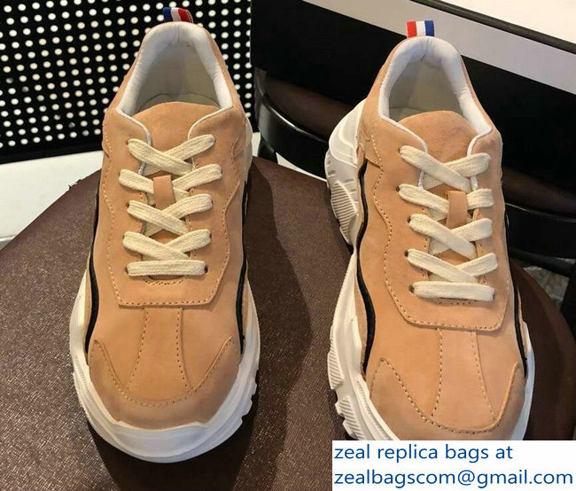 Chanel Suede Leather Sneakers Apricot 2019
