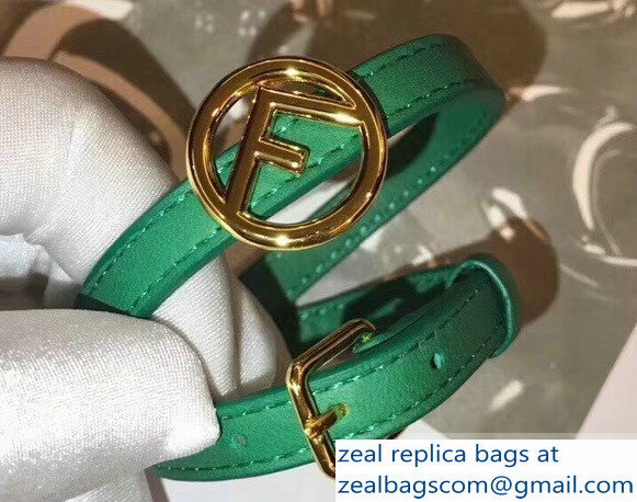 Fendi F Is Fendi Double-wrap Bracelet Green with Adjustable Buckle