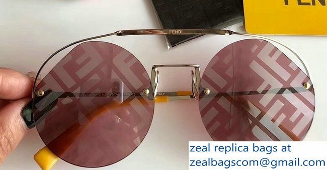 Fendi Round Ribbons & Crystals Sunglasses 03 2019