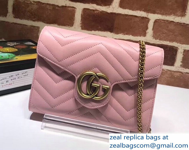 Gucci GG Marmont Matelasse Chevron Mini Bag 474575 pink 2017