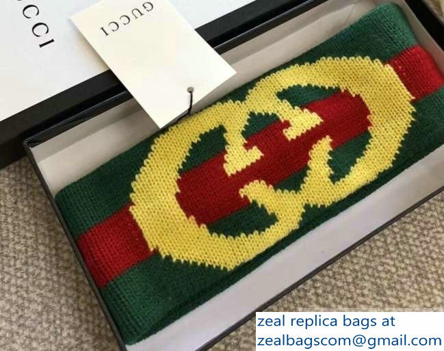 Gucci Web Wool Headband With Interlocking G 524753