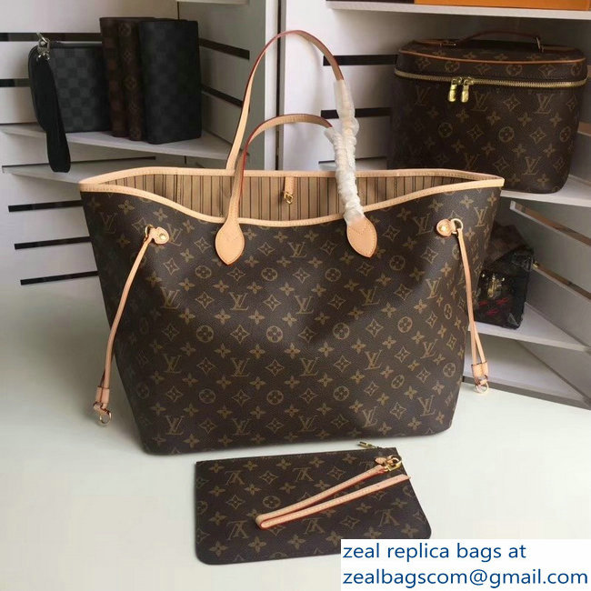 Louis Vuittom Monogram Canvas Neverfull GM Bag beige M40990
