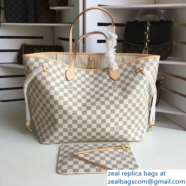 Louis Vuittom damier azur Canvas Neverfull GM Bag