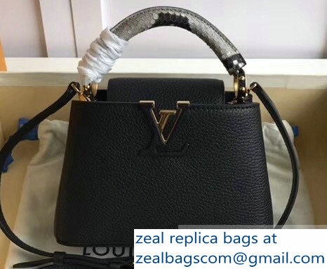 Louis Vuitton Capucines Mini Bag Python Handle Noir
