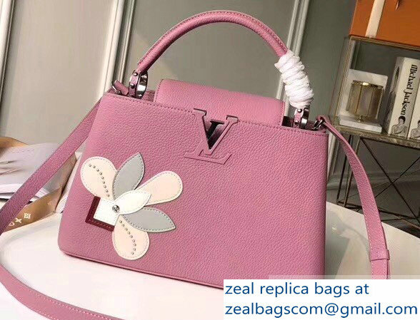 Louis Vuitton Capucines PM Bag Iris Blossom M54696 Pink