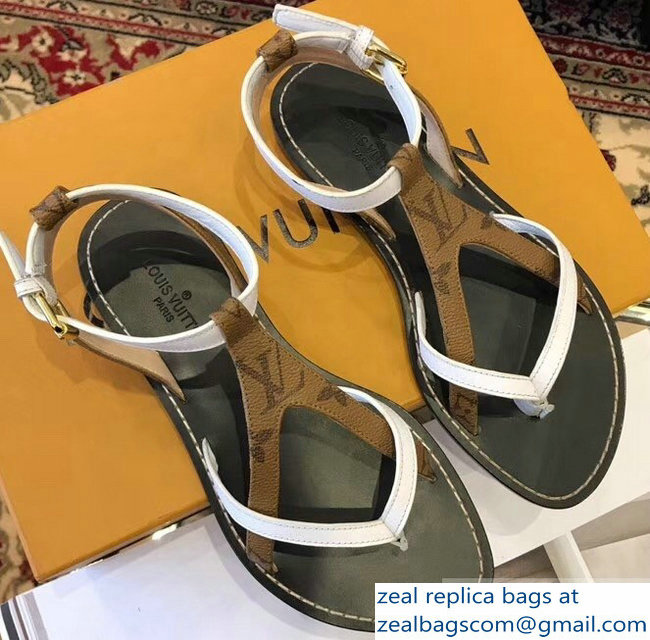 Louis Vuitton City Break Flat Sandals White 2019