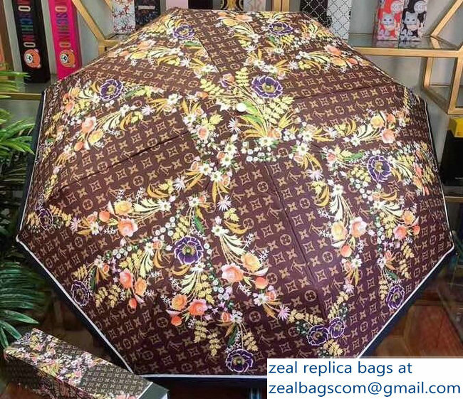 Louis Vuitton Flower Print Umbrella