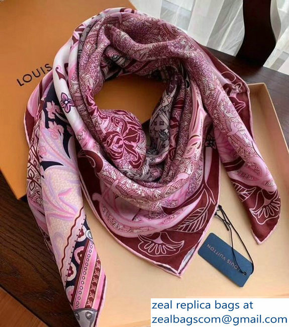 Louis Vuitton Louis A Paris Silk Square Scarf 90x90cm M71410 Pink 2019