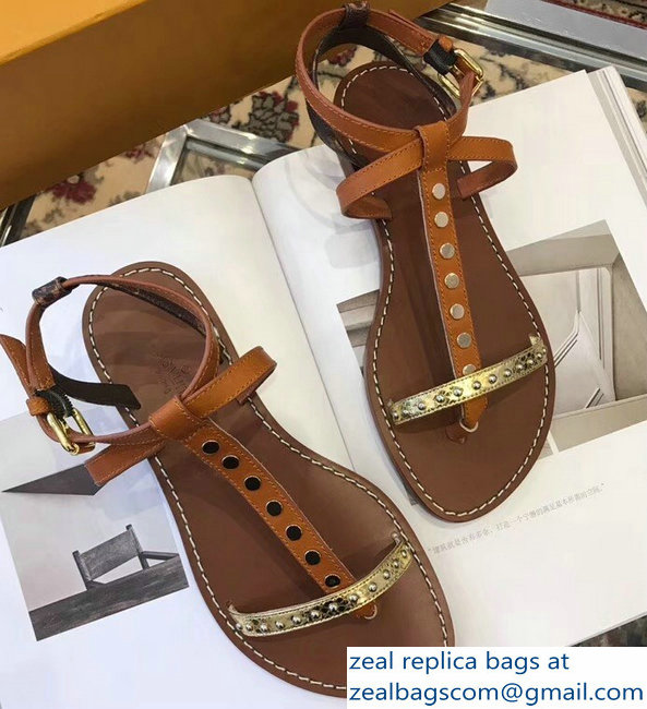 Louis Vuitton Wayside Flat Sandals Brown 2019