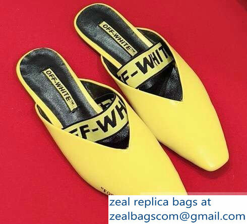 Off-white For Walking Leather Slippers Yellow 2019