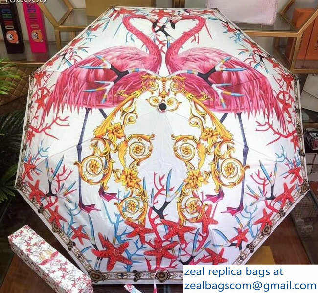 Versace Print Umbrella White