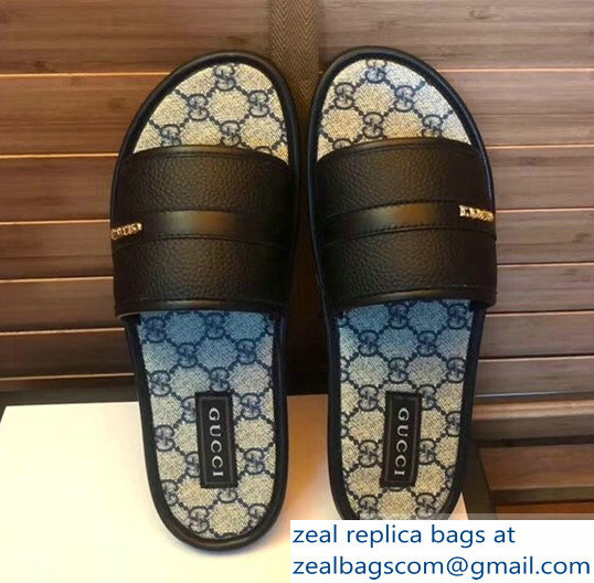 gucci gg web men's slides 01