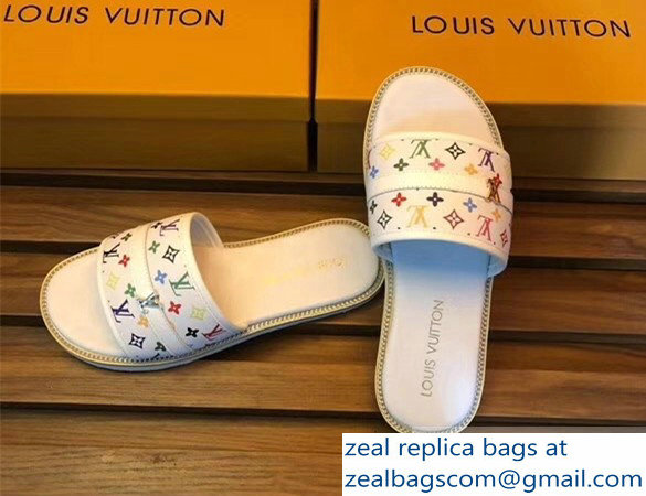 louis vuitton multicolor monogram men's slides