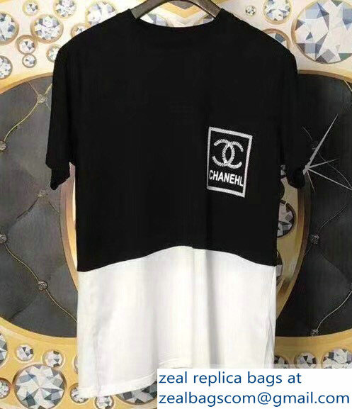 Chanel Logo T-shirt Black/White 08 2019 - Click Image to Close