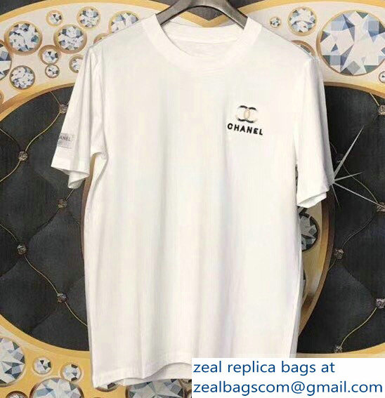 Chanel Logo T-shirt White 01 2019