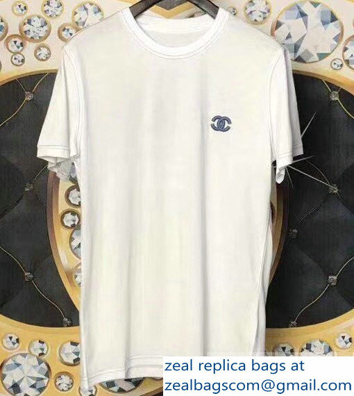 Chanel Logo T-shirt White 05 2019