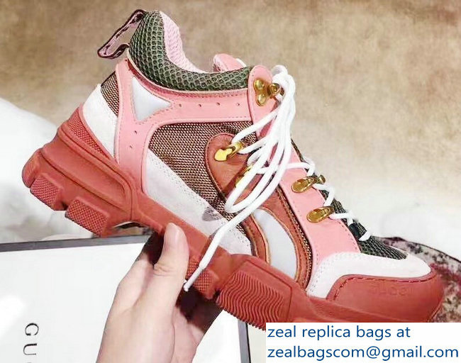 Gucci Flashtrek Lovers Sneakers Pink 2019