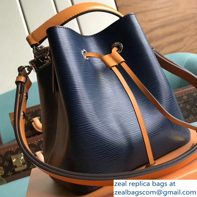 Louis Vuitton Epi Leather NeoNoe BB Bucket Bag M53610 Indigo