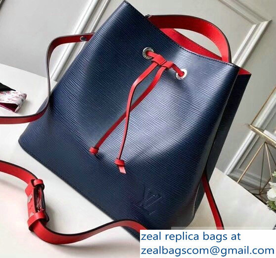 Louis Vuitton Epi Leather NeoNoe Bucket Bag M54367 Indigo