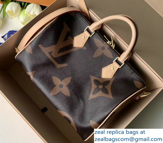 Louis Vuitton Monogram Canvas and Reverse Speedy 30 Bandouliere Bag M41112 2019