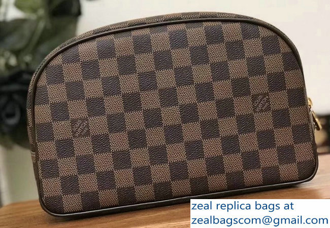 Louis Vuitton Toiletry 25 Bag N47624 Damier Ebene Canvas