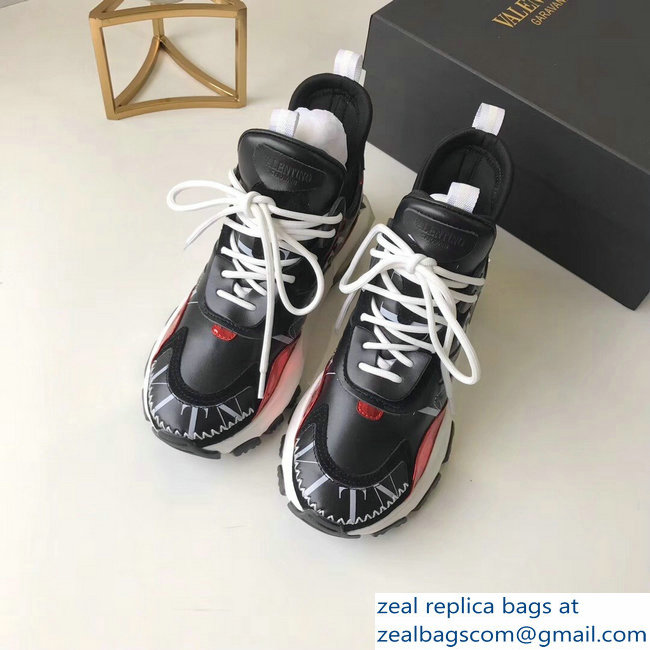Valentino Bounce Low-top Sneakers Black 2019
