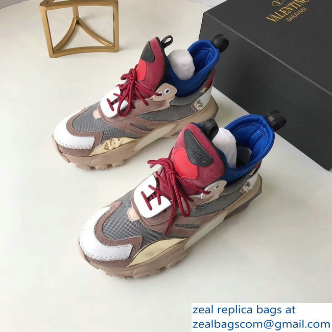 Valentino Bounce Low-top Sneakers Camel 2019