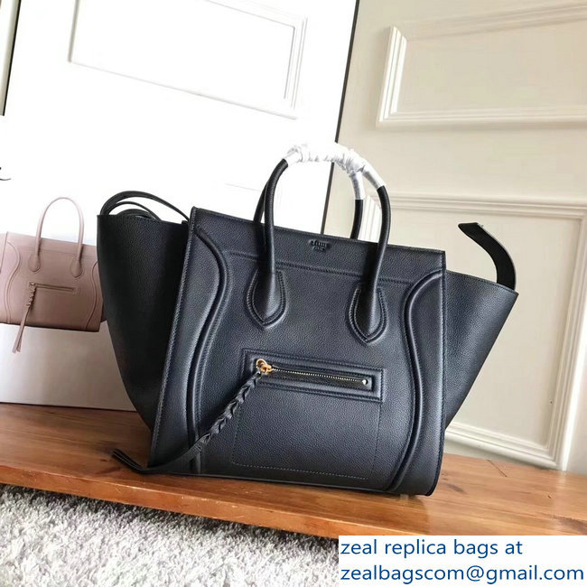 celine grained calfskin phantom luggage black