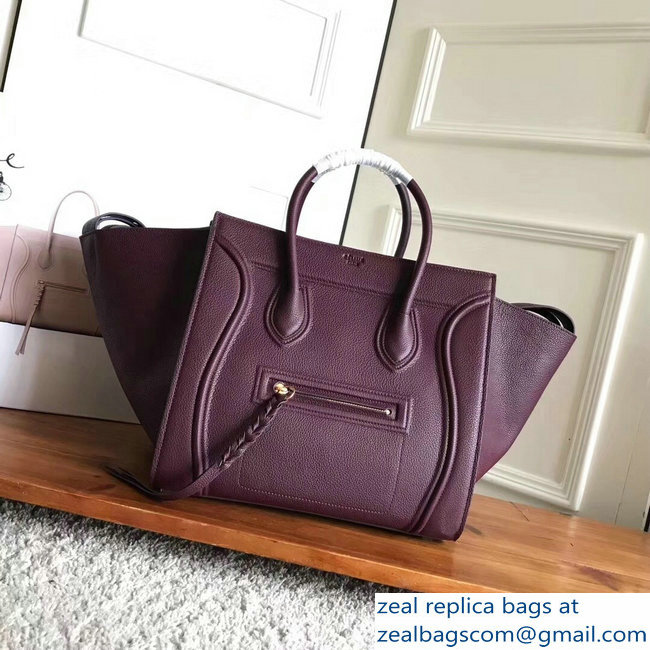 celine grained calfskin phantom luggage burgundy